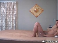 Gorgeous twink gets ass fucked by a hefty gay