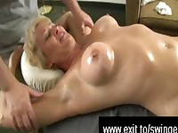 Massage Mom Tracey ends with Cum Explosion