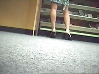 Upskirt Blonde Caught on Hidden Cam