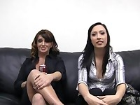 Mother and girlfriend on anal casting