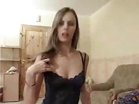 Pretty Russian Brunette Girlfriend Teen Fucked