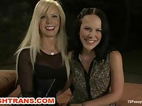 Transsexual Domina Humiliates Her Bound Slave