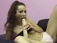 Fucking my self with a real Big dildo