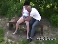 Outdoor date with horny Housewife