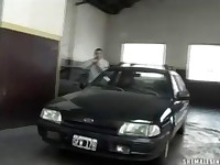 Tranny Fucked in a Public Parking