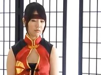 Unknown Model fucked hard in her red cosplay uniform