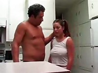 Fucked By Stepdad in kitchen Roleplay