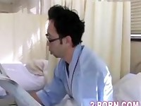 milf fucked on hospital bed and husband is under