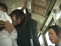 Mother and girlfriend fucked in a bus