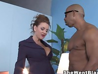 Janet Mason gets fucked by Shane Diesels Huge Black Cock