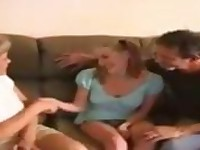 Mature couple seduce a young teen