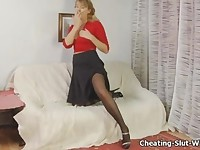 Wife Fucked in Stockings