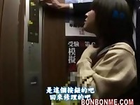japanese schoolgirl blowjob and fucked by teacher in elevator