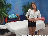 Petite MILF Seduces with Massage