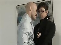 Petite asian fucked by her boss in the office