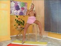 Sexy Blond Teen Toys Her Twat