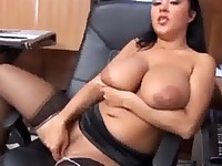 Chubby latina has great tits