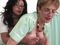 Mature chicks cumshot after tit fucking