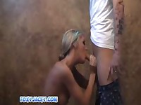Foxy Jacky Fucked Doggystyle And Tits Cummed On