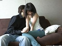Teen Couples Sex On The Sofa