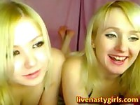 Blonde Girls Play With Each Other