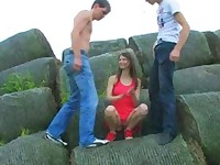 Outdoor double teen penetration