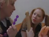 Lesbian Schoolgirl Orgy at Home