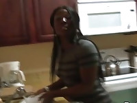 Black Ghetto Girl Fucked Hard by a Big Black Cock