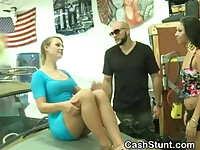 Blonde Flashes Her Tits And Pussy In Money Talks Stunt