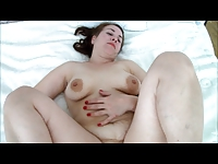 Pregnant wife fingering her pussy