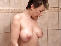 Mature couple in the shower
