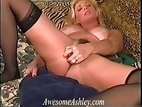 Ashley Squirts With Large Dildo