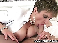 Mature british slut in stockings