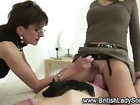 Slut gets her shoe fetish going on in skanky way with spanking