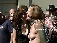 Brunette model dreaming a pervert fantasy where her mouth is drilled deep in extreme group sex