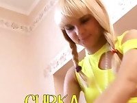 Beautiful petite blond Loly from Russia