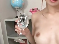 Sara Seori oils up her body and fingers her pussy
