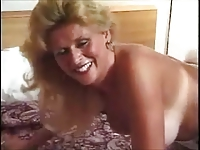 Mature Blonde in Boots Loves Anal
