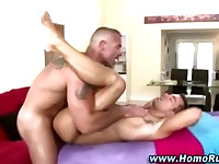 Straight guys first anal