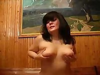 Chubby Mom takes cock