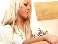 Superb blonde Carla Cox pleasuring herself with her fingers