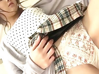Shiori Uta is a horny slut that couldnt wait to have her pussy abused by two horny guys