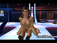 3D cartoon stripper gets her tight pussy pounded