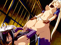 Bondage hentai with gagged brutally fucked in the dungeon