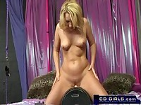 Flower Tucci squirting sybian orgasm