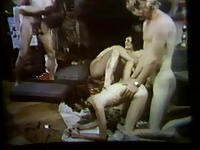 Retro Group Sex Scene