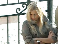 Incredible blonde in shoes finger