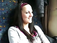 Camera is eager to fuck this girl on the train for cash
