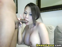 Busty Asian GF Nice Blowjob HD