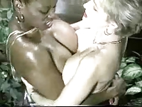 Ebony Ayes and Danni Ashe Go Breasts-2-Breasts